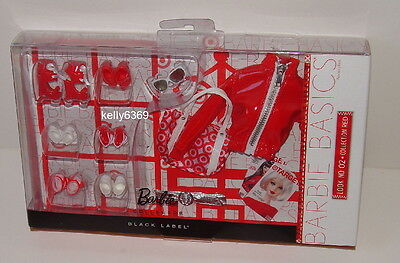 Barbies Dolls **BARBIE BASICS ACCESSORIES** Look #02 Red Clothes Shoes NEW