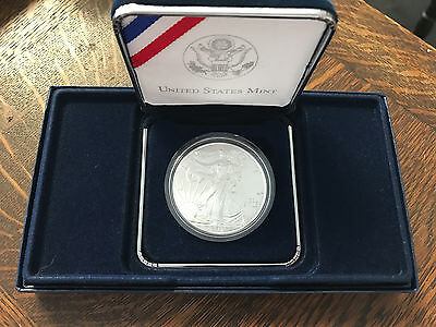2017 1 oz Silver American Eagle in a US MINT Presentation Box