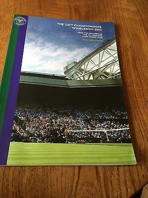 Wimbledon 2012 Tennis Final Programme (Published After The Championships)