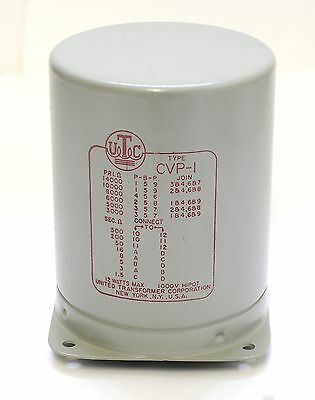 United Transformer Corp CVP-1 Varimatch Output Transformer, Boxed (Used?)