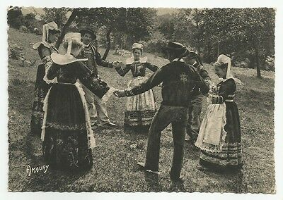 Bretagne Costume Bannalec DANCE Old Vintage Postcard French Rotogravure Photo