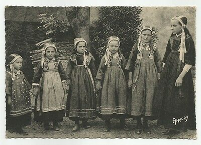 Bretagne Plougastel- Daoulas Children CPA French Photo Postcard Amaury France