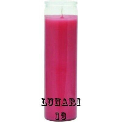 Pink, 7 Day Candle, Plain Glass, Unscented, Rituals, Prayers, Wishes, Meditation