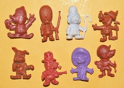 Very Rare Cereal Premium Mexican Figures R&l Daffy Dogs Tinykins Ii