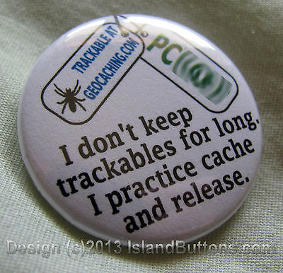 Cache and Release Geocaching Trackable Button