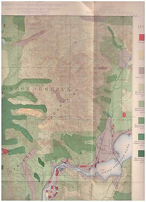 Sandpoint region Idaho 1899 color map Timber