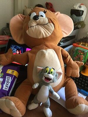 """TOM AMD JERRY Very LARGE JERRY MOUSE SOFT TOY Plush 25"""" Plus Small Tom"""
