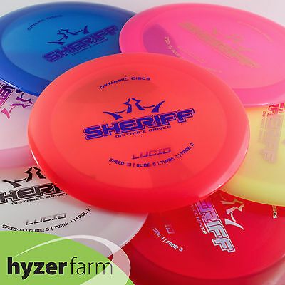 Dynamic Discs LUCID SHERIFF *pick your weight & color* disc golf Hyzer Farm