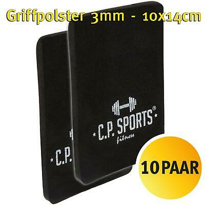 C.P.Sports ® Griffpolster 3mm 10x10cm 10er Set Griffpads Grips Fitness Pad Gym