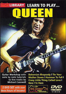 Lick Library - Learn To Play Queen Guitar Dvd @scm