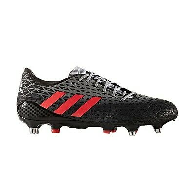 Adidas AW16 Crazyquick Malice SG Rugby Boots - Black/Shock Red - Black/Red - UK
