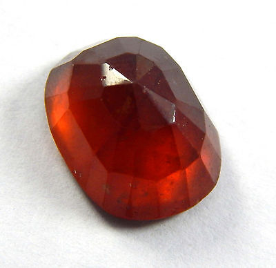 11.50 Ct Natural Faceted Hessonite Cushion Shap 11.5x15MM Loose Gemston