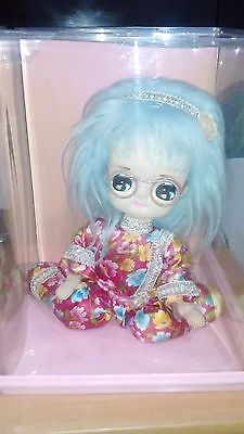 Vintage Pose Doll Stocking Cloth Doll Big Eye  made in Japan Retro Rare In Case