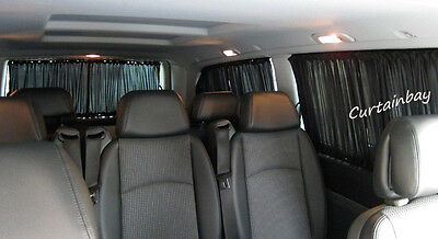 Mercedes Vito 638 curtains set for 2 side windows black color