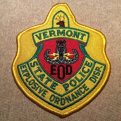 VT Vermont State Police EOD Patch