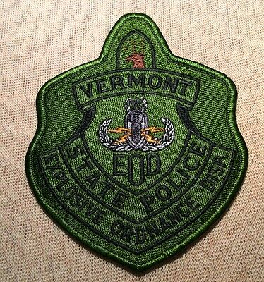 VT Vermont State Police EOD Patch (Olive)