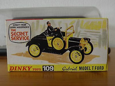 Dinky Toys Gabriel Model T Ford 109 The Secret Service, Boxed.