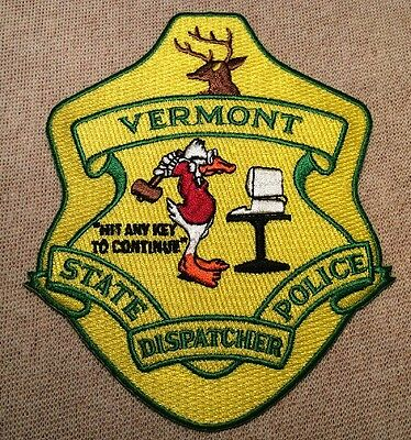 VT Vermont State Police Dispatcher Patch