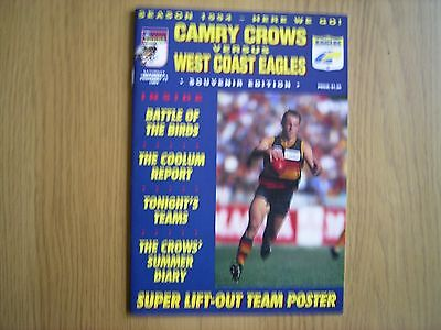 Camry Crows v West Coast Eagles February 1994 + team