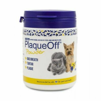 Plaque Off Tooth Powder for Dogs & Cats Bad Breath and Tartar Removal - 180g