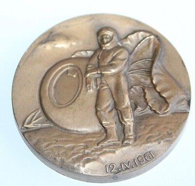 Original Russian SPACE Table Medals Bronze GAGARIN SOVIET ARMSTRONG USA 1961