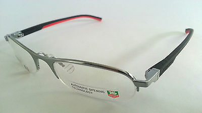 Tag Heuer Glasses / Frames Th0823 002 - Black / Red - Bnib - Trusted Uk Seller