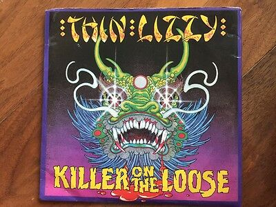 """THIN LIZZY Killer on the Loose Chinatown (live) +2 Double 7""""  45 import"""