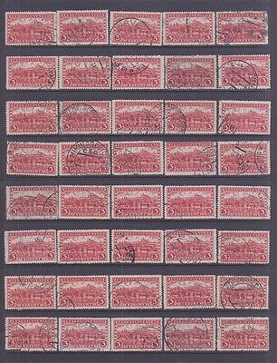 CZECHOSLOVAKIA #120 Used Lot of 90 Stamps 3k Deep Red 1926  HRADCANY AT PRAGUE