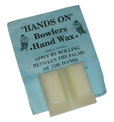 BOWLS Grip Aid Hands On Bowlers Hand Wax Two Blocks Australian Made