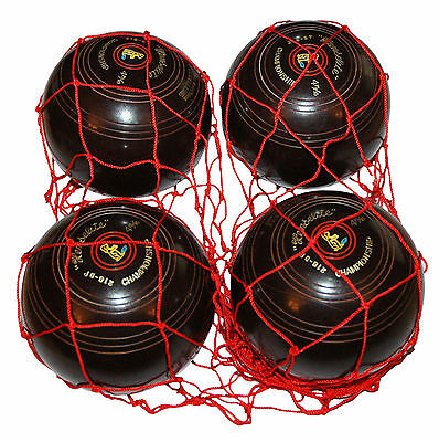 ACCLAIM String Net Bowlers Bright Red Ideal To Carry 2, 3 or 4 Of Bowls