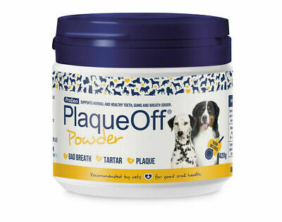 Plaque Off Tooth Powder for Dogs & Cats Bad Breath and Tartar Removal - 420g