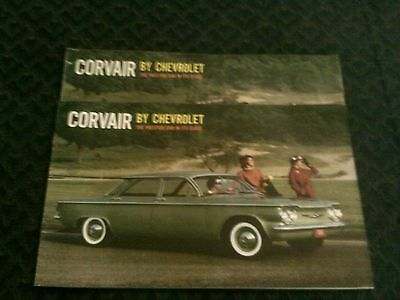 1960 and 61 corvair dealer brochures 4 pc set