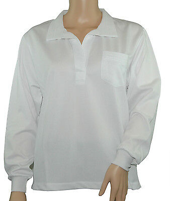 CATHEDRAL Blouse Ladies Joanne Long Sleeve Bowling Modern Open Neck Pocket