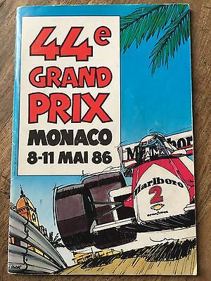 1986 F1 Monaco Programme SIGNED BY ALL DRIVERS Senna Prost & Regazzoni Scheckter
