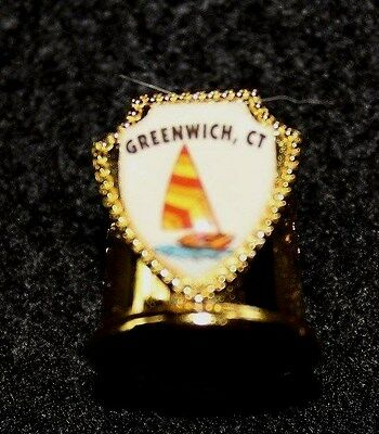 Greenwich, CT. - Gold Metal Thimble