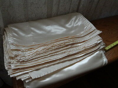 """New! 55 Ivory 17"""" Wedding Napkins & 10 matching satin sheen 112"""" Table  Runners"""