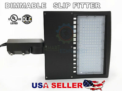 Shoe-box 100w LED Parking Lot  Light Fixture UL DLC Listed- Slip Fitter Adjust