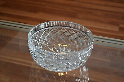 """Waterford Crystal 8"""" Old Mark Bowl Diamond Cut Large Serving Bowl Centerpiece"""
