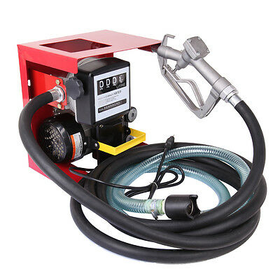 16 Gallon Electric Oil Fuel Diesel Gas Transfer Pump W/Meter + 13' Hose & Nozzle