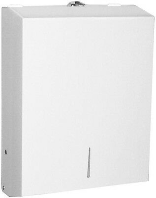 White Stainless Steel Wall Mounted Multifold Paper Towel Dispenser C Fold