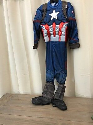 Marvel's Captain America Deluxe Muscle Boys' Costume - Medium (7-8)