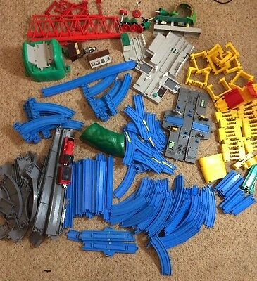 TOMY Thomas The Tank Engine Track Blue & Grey + Buildings + Train Huge Bundle