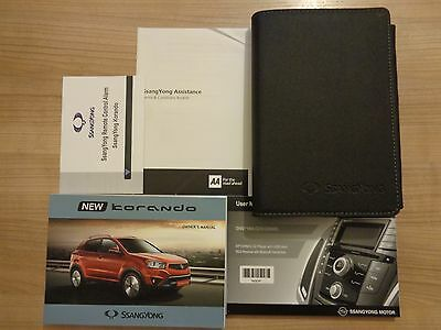 Ssangyong Korando Owners Handbook/Manual and Pack