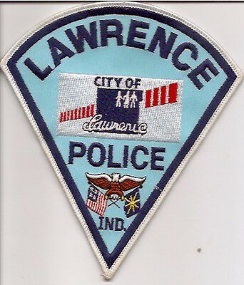 Usa Lawrence Police Patch Indiana-Unused
