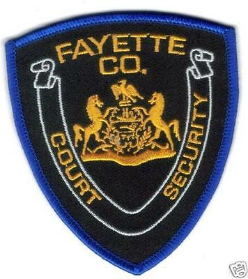 Fayette County Court Security Police Patch