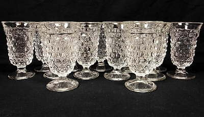 """Vintage Fostoria American Low Footed Wine Goblets 4 3/4"""" 13 Piece Set/Lot"""
