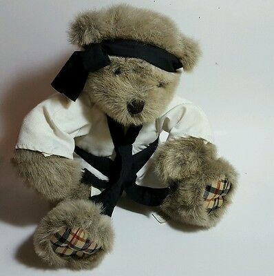 talking karate bear - collectable plush