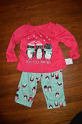 NWT! Carter's Just One You penguin print two piece pajamas - size 2T