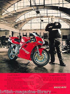 Ducati 916 Biposto - Enlarged Advert (45cm x 32cm) Poster Print