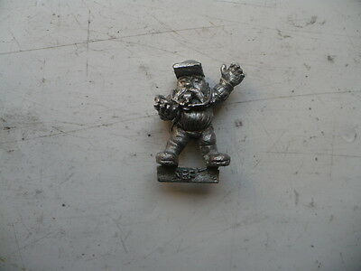 Citadel Warhammer classic 80s Blood Bowl Dwarf Ref with Whistle and Stop Watch